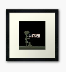 Support our Troops - Fallen Soldier Framed Print