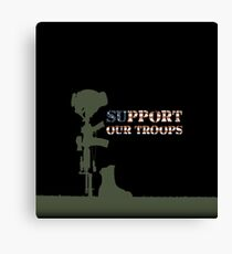Support our Troops - Fallen Soldier Canvas Print
