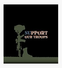 Support our Troops - Fallen Soldier Photographic Print
