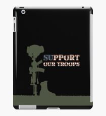 Support our Troops - Fallen Soldier iPad Case/Skin