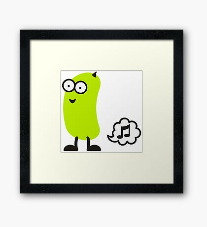 Musical Bean VRS2 Framed Print