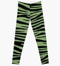0663 Asparagus Tiger Leggings