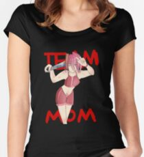 Panda Pearl - Team Mom Women's Fitted Scoop T-Shirt