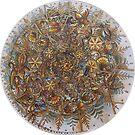 Hunagram (R) Mandala for love and peace, harmony of family by Marianna Vencak