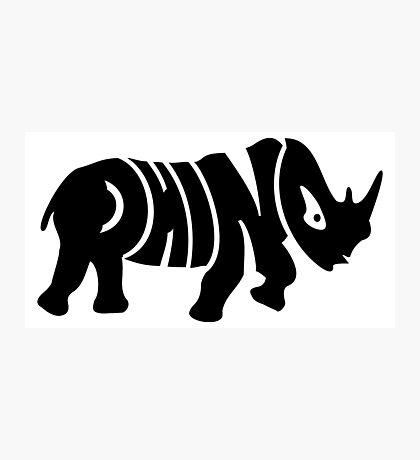 Rhino VRS2 Photographic Print