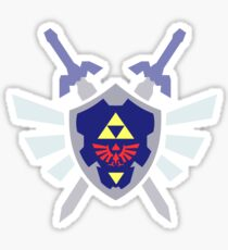 The hero of time, Link's shield Sticker