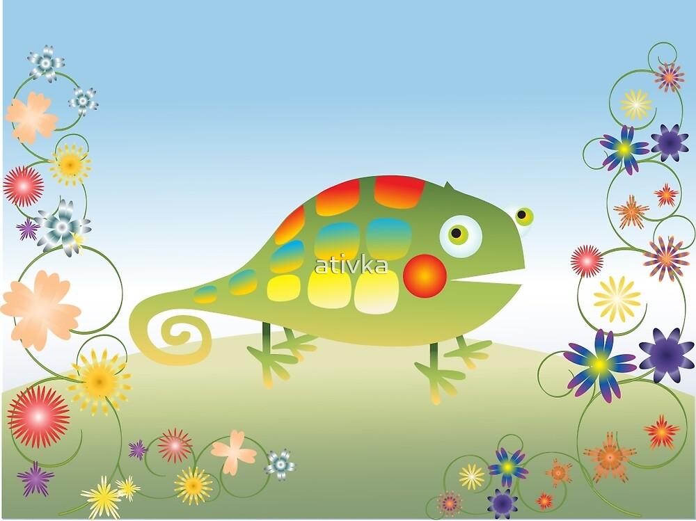 chameleon lizard by ativka