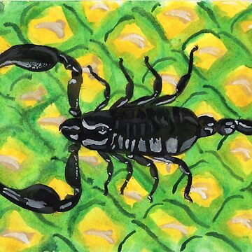 Scorpion on a Pineapple by Ensis02