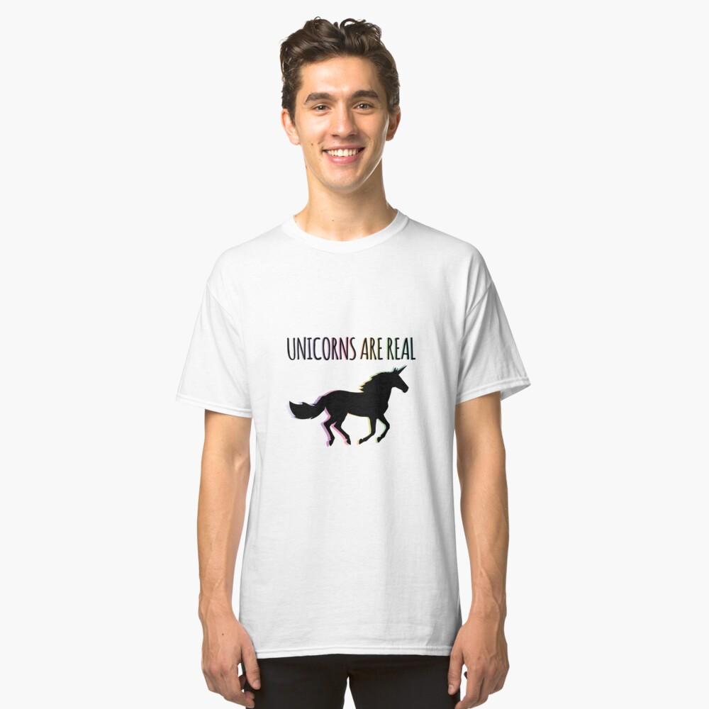 Unicorns are Real Rainbow Version Classic T-Shirt