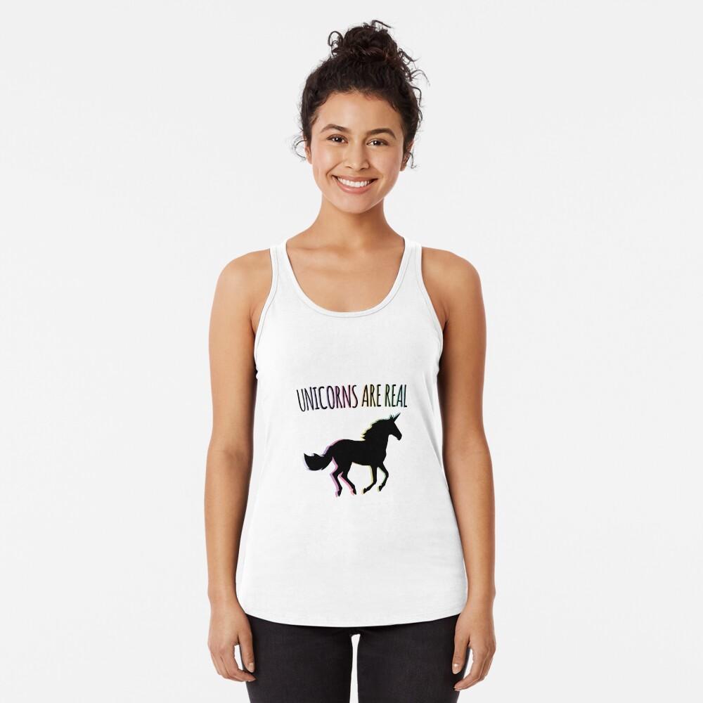 Unicorns are Real Rainbow Version Racerback Tank Top