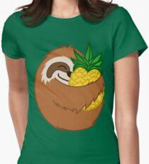 Camiseta entallada para mujer Perezoso De Piña