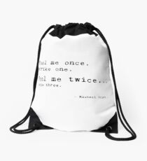 Michael Scott The Office Us funny quote Drawstring Bag