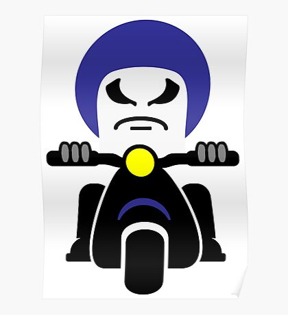 Bad Dude on a Scooter VRS2 Poster