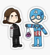 Bucky And Captain America Sticker