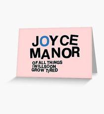 Joyce Manor Greeting Card
