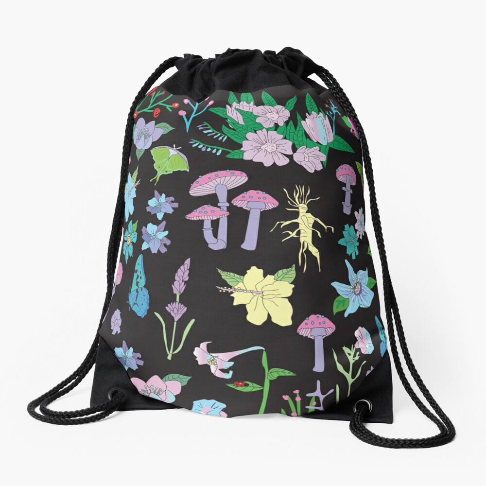Garden Witch Drawstring Bag