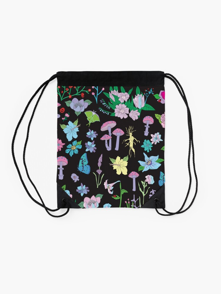 Alternate view of Garden Witch Drawstring Bag