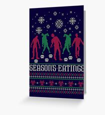 Season's Eatings Greeting Card