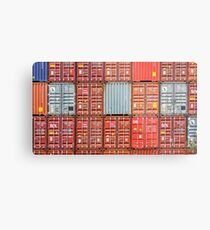 Stacked Shipping Containers Metal Print