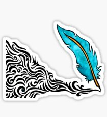 Feather Quill Pen Sticker