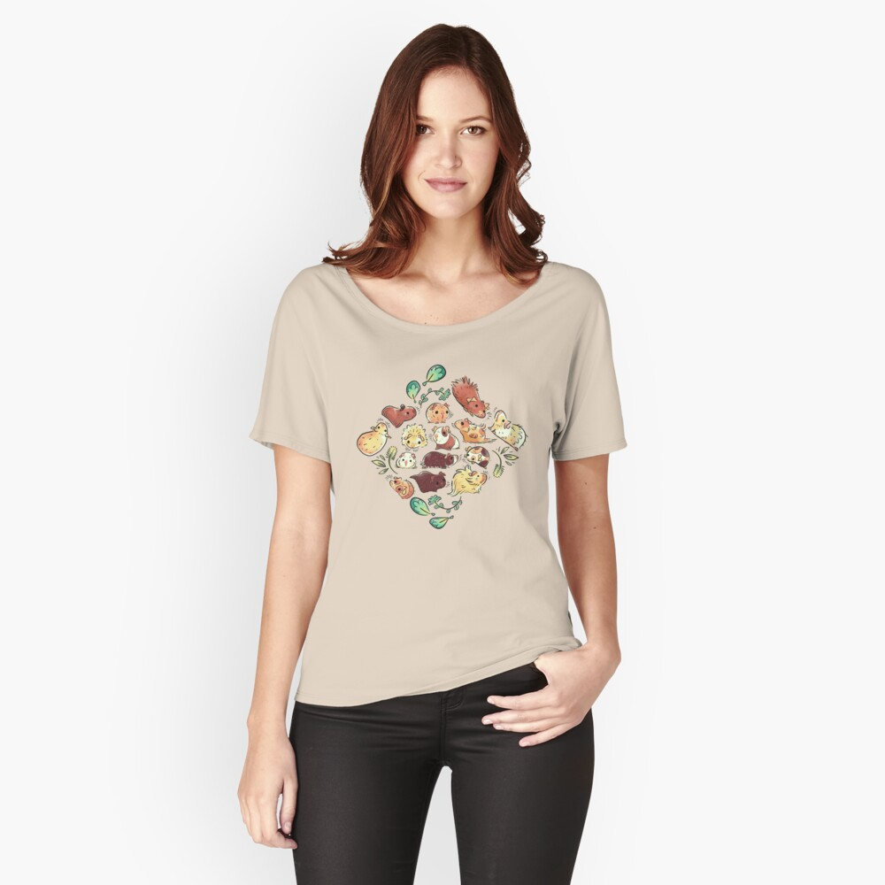 Meerschweinchen-Diamant Loose Fit T-Shirt
