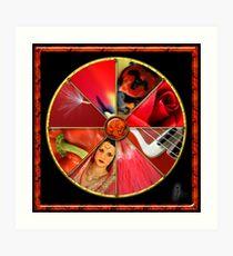 Red Colour Wheel Art Print