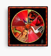 Red Colour Wheel Canvas Print