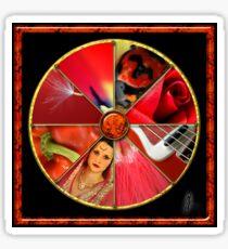 Red Colour Wheel Sticker