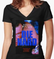 DIE HARD 16 Women's Fitted V-Neck T-Shirt