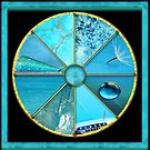 Turquoise Colour Wheel by Jane Marin