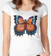 """""""Beauty of Butterfly"""" Fitted Scoop T-Shirt"""