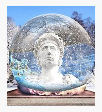 Globe Ruler Photographic Print