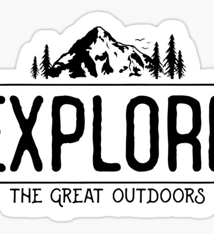 Explore the Great Outdoors Sticker