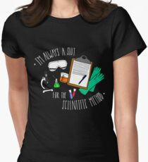 The Scientific Method [White] Womens Fitted T-Shirt