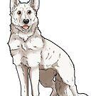 Shepherd Love -White by aunumwolf42