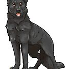 Shepherd Love -Black by aunumwolf42