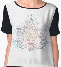 Lotus Mandala Illustration Chiffon Top