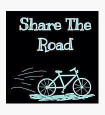 Share The Road Photographic Print