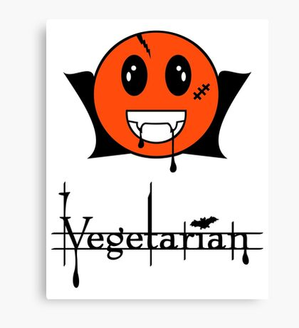 Vegetarian  Vampire Smiley VRS2 Canvas Print