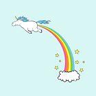 Unicorn Rainbow Fart Pastel by Rebecca Barkley
