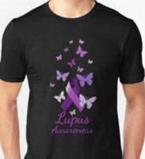 Purple Awareness Ribbon: Lupus Unisex T-Shirt