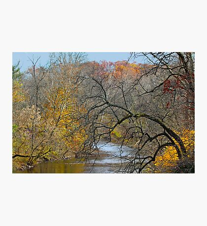 Perkiomen Creek - Perkiomenville PA - Autumn Foliage Photographic Print