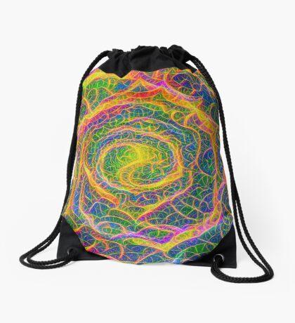 Spider web #DeepDream Drawstring Bag