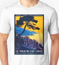 Le Tour Du Cap Corse, French Travel Poster Unisex T-Shirt