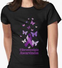 Purple Awareness Ribbon: Fibromyalgia  Womens Fitted T-Shirt