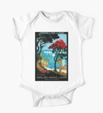 Côte D'Emeraude, French Travel Poster One Piece - Short Sleeve
