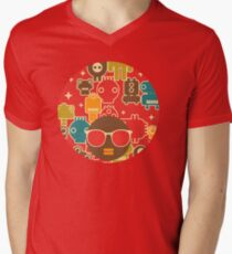 Robots on red T-Shirt
