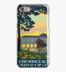 Chenonceaux, French Travel Poster iPhone Case/Skin