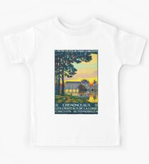 Chenonceaux, French Travel Poster Kids Clothes