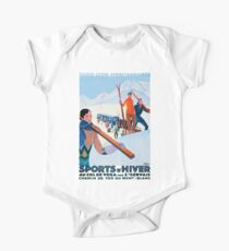 Sports D'Hiver, French Travel Poster Kids Clothes